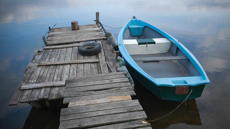 Pomost na jednym z mazurskich jezior