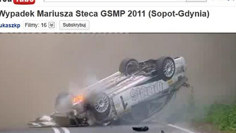 Auto Mariusza Steca po wypadku