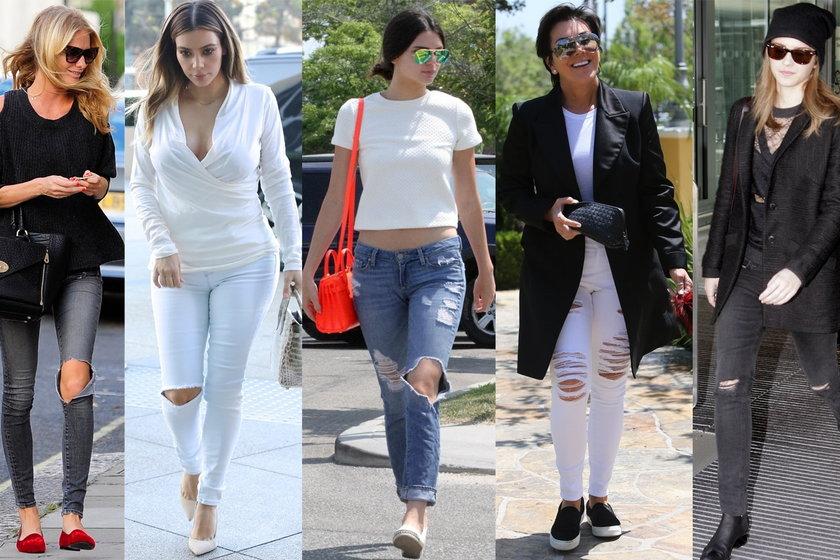 Jak nosić jeansy z dziurami?
