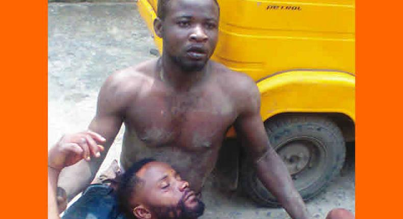Elepo and Lateef after the stabbing