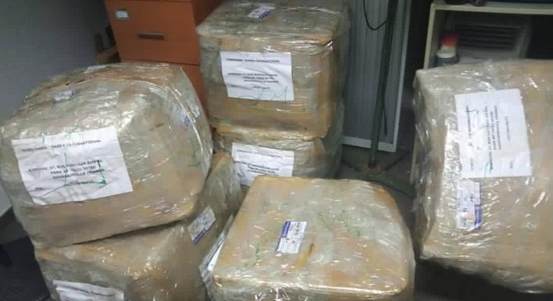 NDLEA seizes 200kg of hard drugs at Lagos, Abuja, and Kano airports. [Twitter/@ndlea_nigeria]