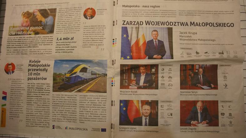 Gazetka wydana przez urząd marszałkowski