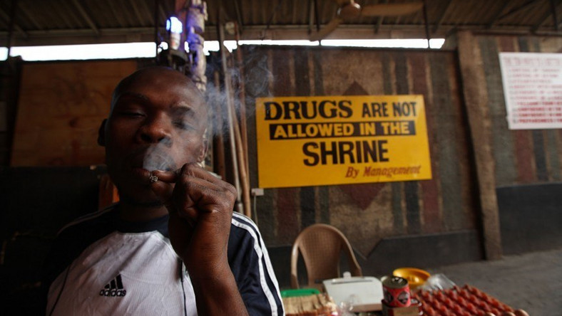 Image result for weed smoking in fela shrine
