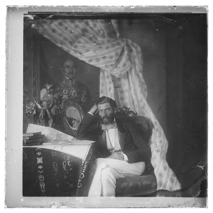 Anastas Jovanovic, Knez Mihailo u enterijeru, oko 1856.