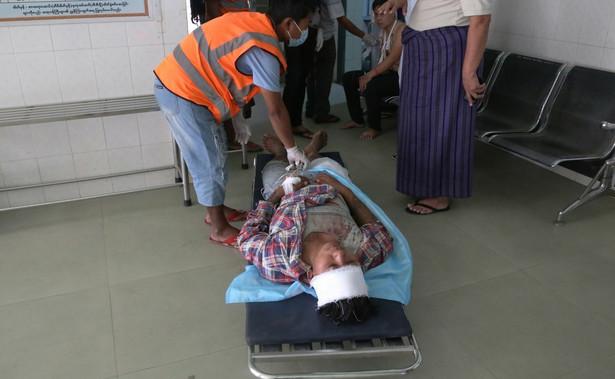 Protest w Birmie