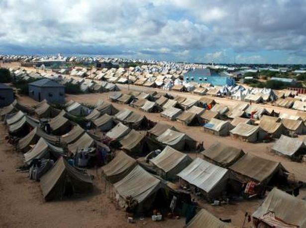 Obóz imigrantów