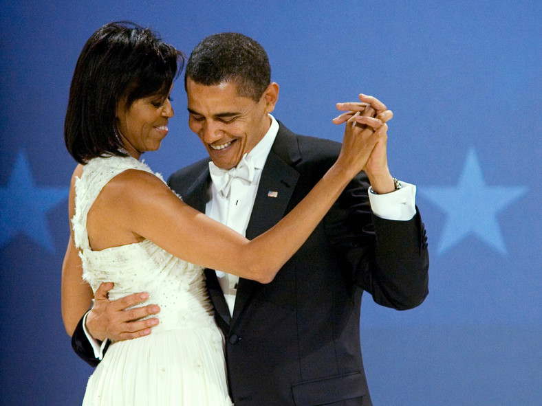 Dancing at the Midwestern Ball on the night of his inauguration.