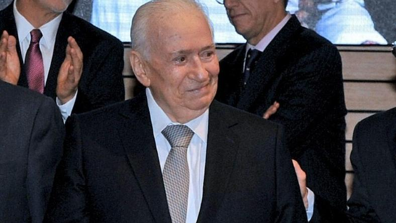 Belisario Betancur, Colombia's president from 1982 to 1986, pictured on May 19, 2016 in Bogota, Colombia