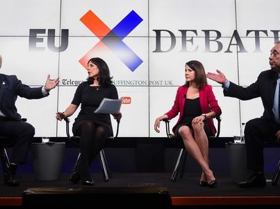 Od lewej: Boris Johnson, Aasmah Mir, Liz Kendall, Alex Salmond