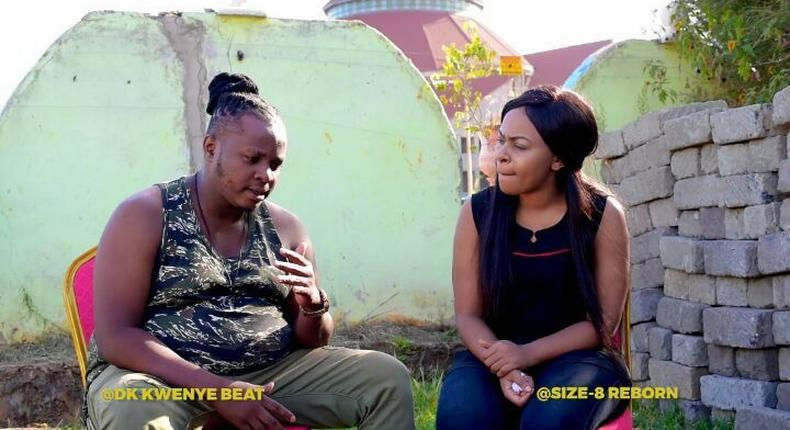 DK Kwenye Beat and Size 8 during the interview (Instagram)