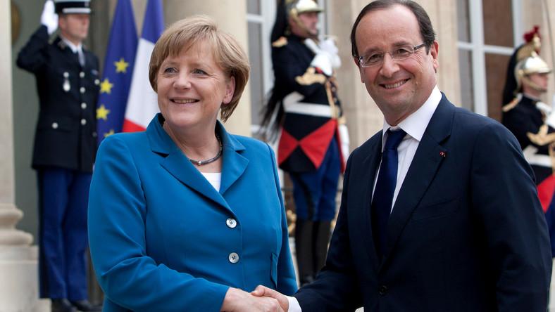 Angela Merkel z Francoisem Hollande