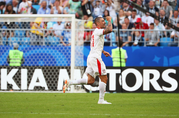 Aleksandar Kolarov slavi gol
