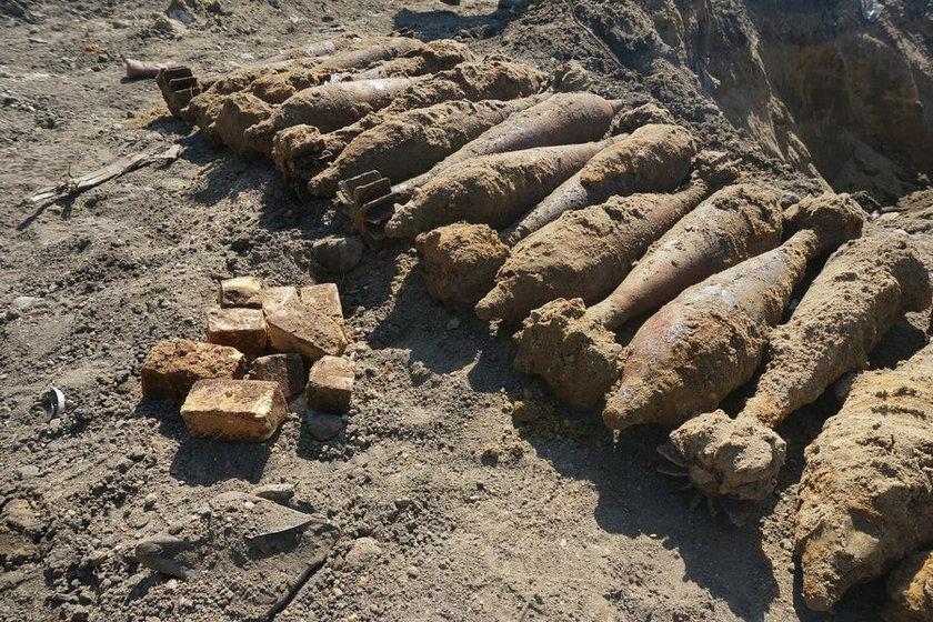Rybnik. Znalezione granaty moździerzowe przy ul. Rudzkiej