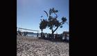 Deda Mrazu zakazao padobran, srušio se na drvo pored plaže i SLOMIO NOGU (VIDEO)