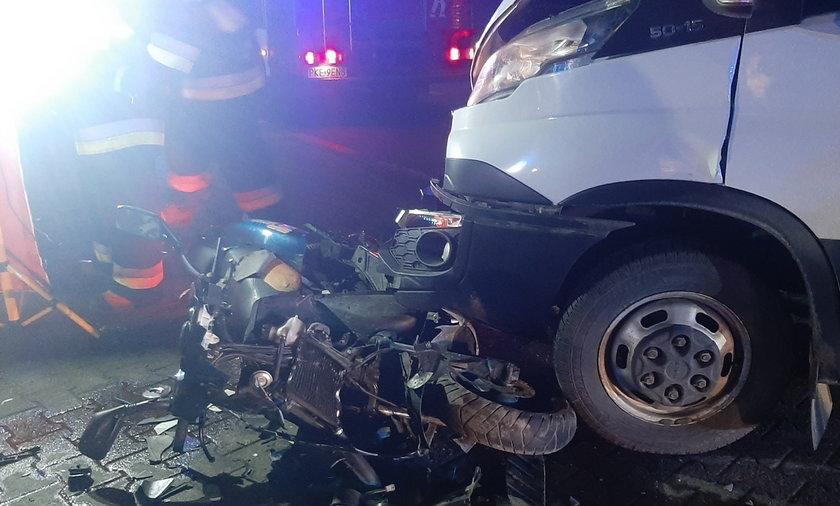 Groźny wypadek w Piaskach pod Kępnem.