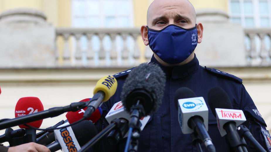 Rzecznik prasowy Komendy Stołecznej Policji nadkom. Sylwester Marczak
