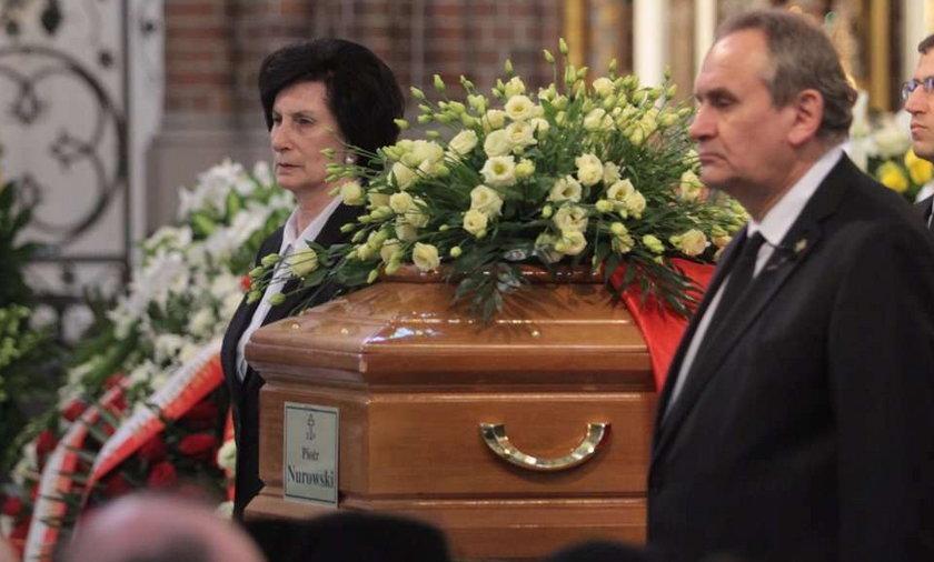 Drzewiecki płakał na pogrzebie Nurowskiego