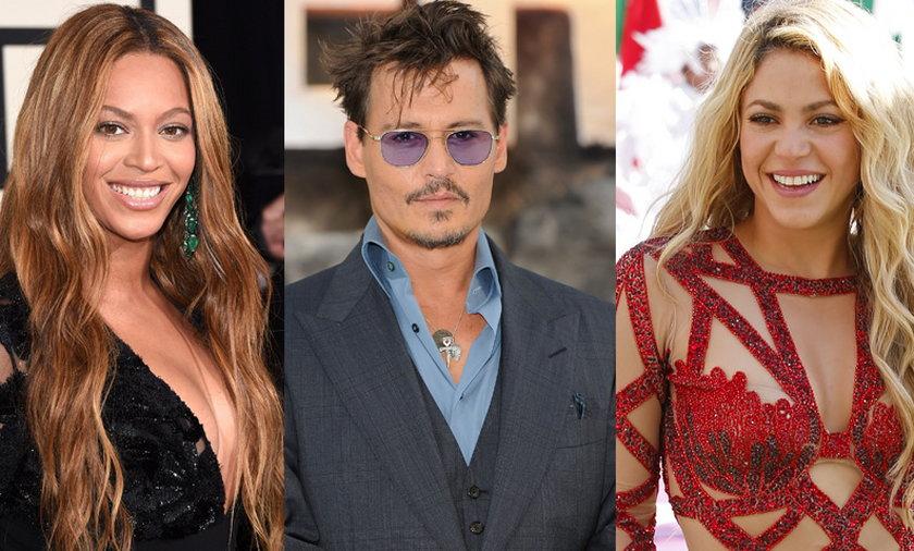 Beyonce, Johnny Depp, Shakira