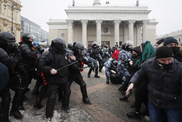Demonstracja poparcia dla Nawalnego