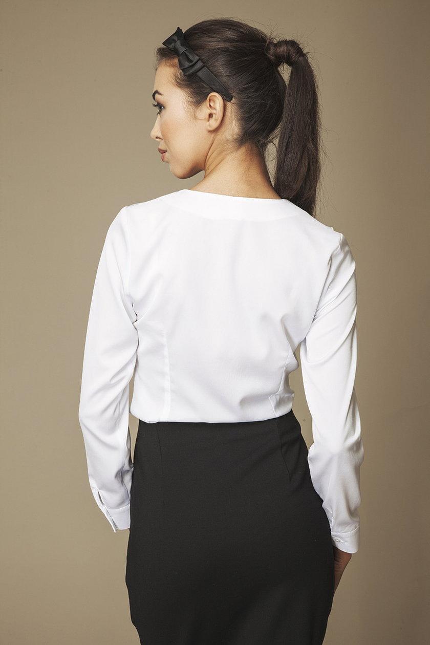 AMBIGANTE biała koszula z metalowym zdobieniem 79,90 zł