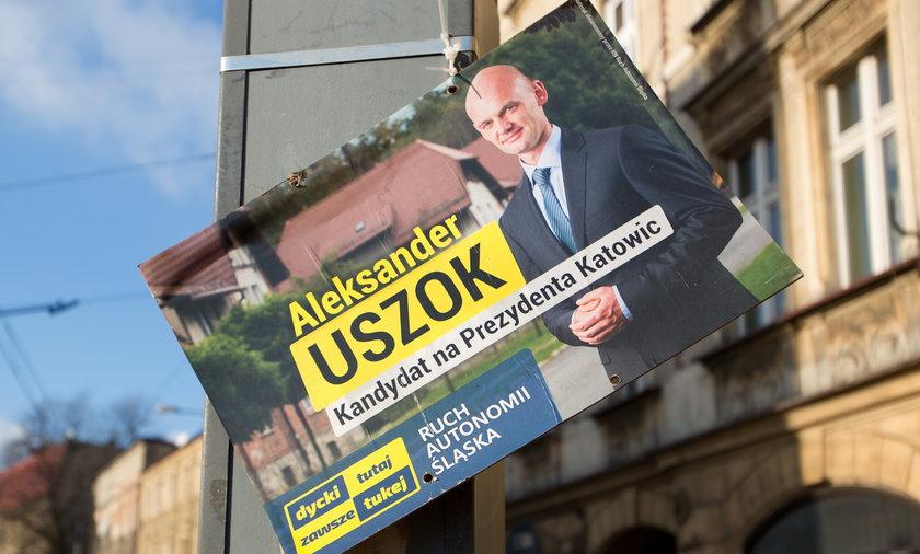 Plakaty wyborcze w Katowicach