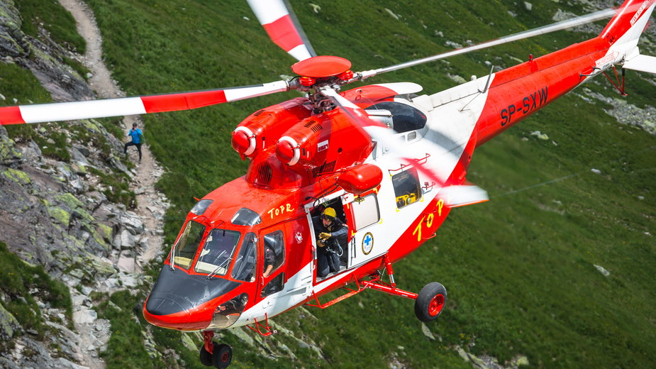 Helikopter ratowniczy TOPR, Tatry
