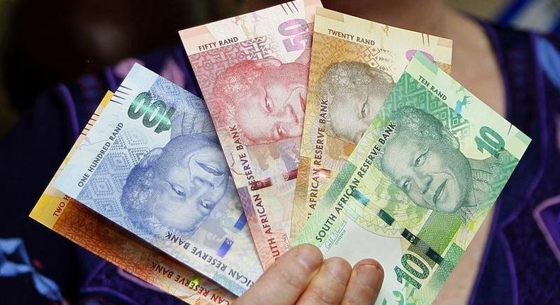 South African rand notes in a file photo.     REUTERS/Siphiwe Sibeko