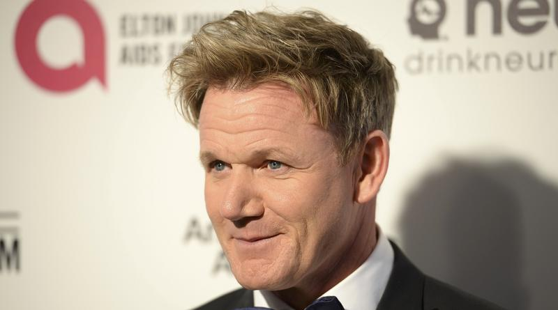 Gordon Ramsay arrives at the 2015 Elton John AIDS Foundation Oscar Party in West Hollywood