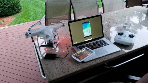 Pokemon Go oszukane za pomocą drona Fot. perchbird.tumblr.com