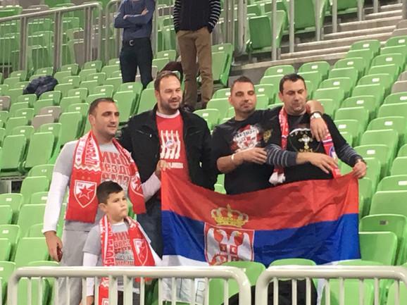 Navijači Crvene zvezde u Ljubljani