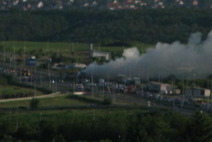 Zapaljen kamion na Ibarskoj