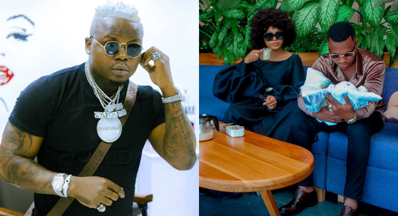 Harmonize's surprise message to Ex-Lover Jacqueline Wolper after giving Birth (Screenshot)