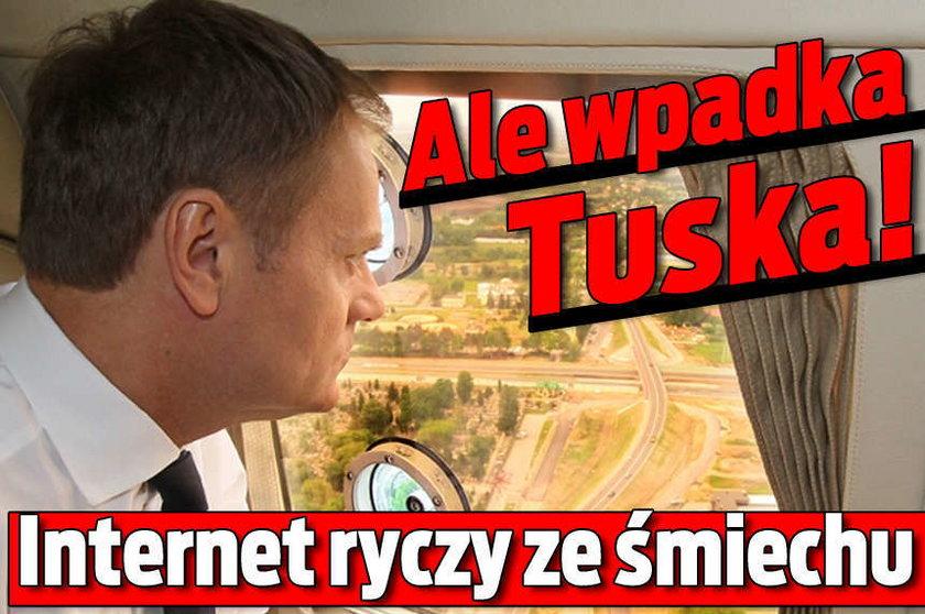 Ale wpadka Tuska!