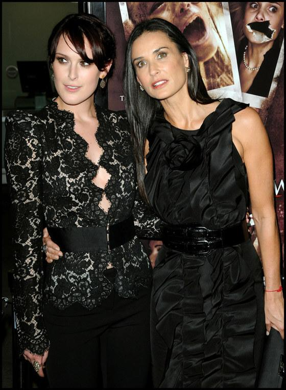 Demi Moore i Rumer Willis