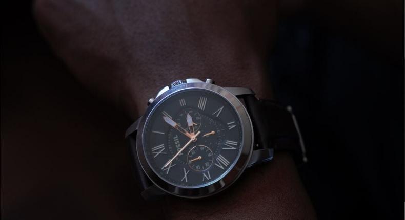 Kagwe Mungai's Fossil watch.