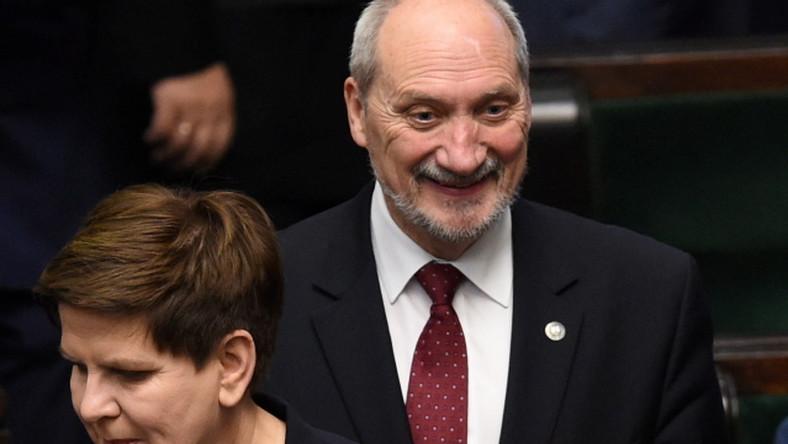 Beata Szydło i Antoni Macierwicz