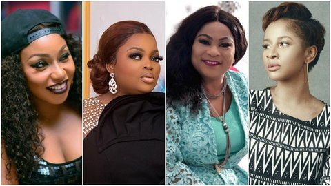 Nollywood female actors are some of the best at what they do and here's why. [Instagram/ritadominic/funkejenifaakindele/solasobowale/adesuaetomi]