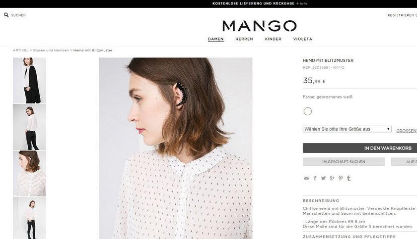 Bluzka Mango z symbolem SS. Wpadki sieciówek
