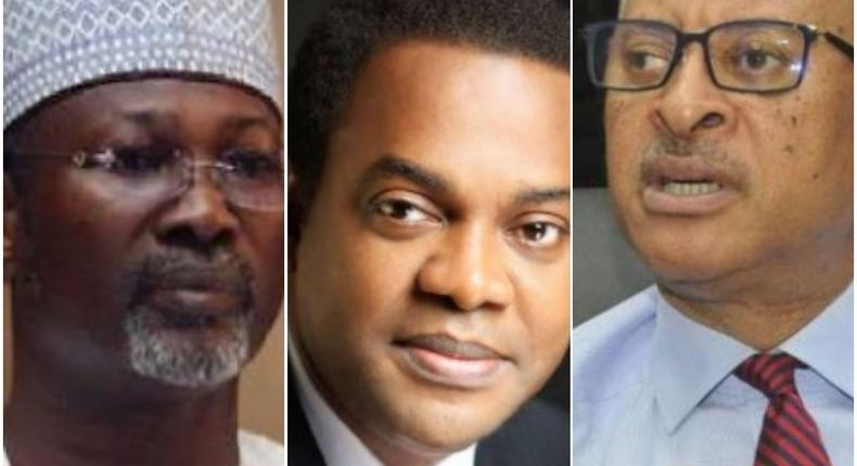 From L-R: Jega, Duke and Utomi (Guardian)