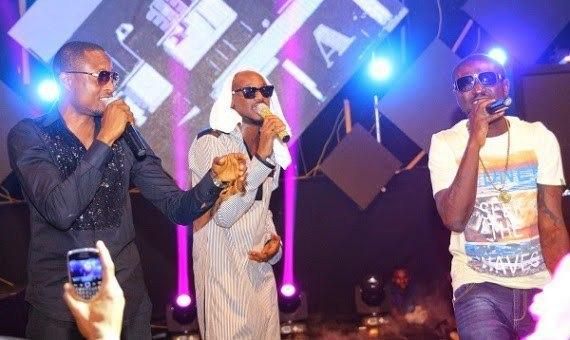Faze, 2face and Blackface reunite at an event in 2016 [Yabaleft]
