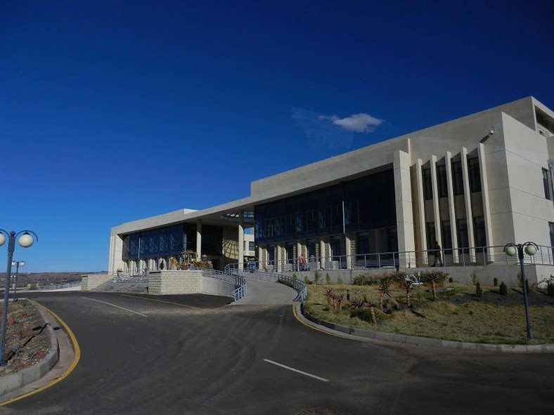 Lesotho's new parliament building outside Maseru