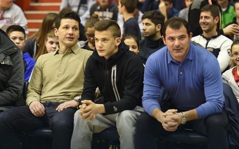 Marko Pantelić i Dejan Stanković sa sinom Filipom
