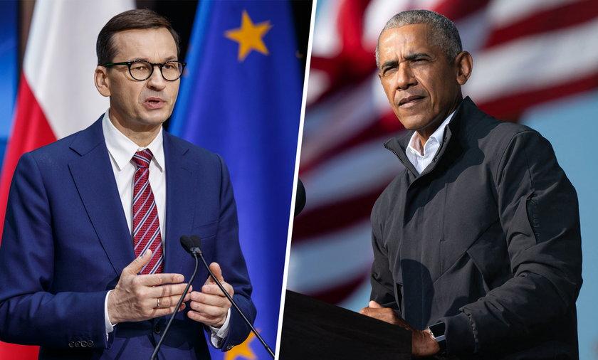 Mateusz Morawiecki i Barack Obama
