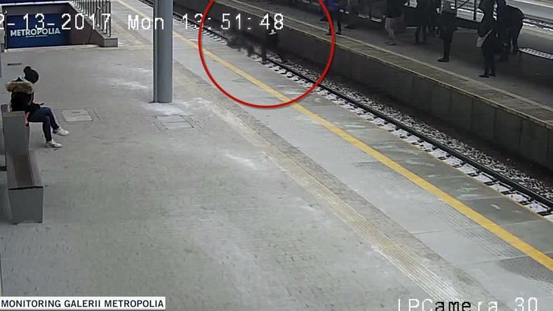 Peron na stacji Gdańsk Wrzeszcz