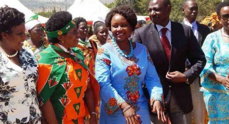 Beatrice Kones, Deputy President William Ruto with National Assembly Deputy Speaker Joyce Lasboso and other leaders at a past event.
