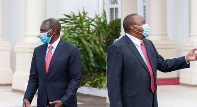 File image of DP William Ruto with President Uhuru Kenyatta