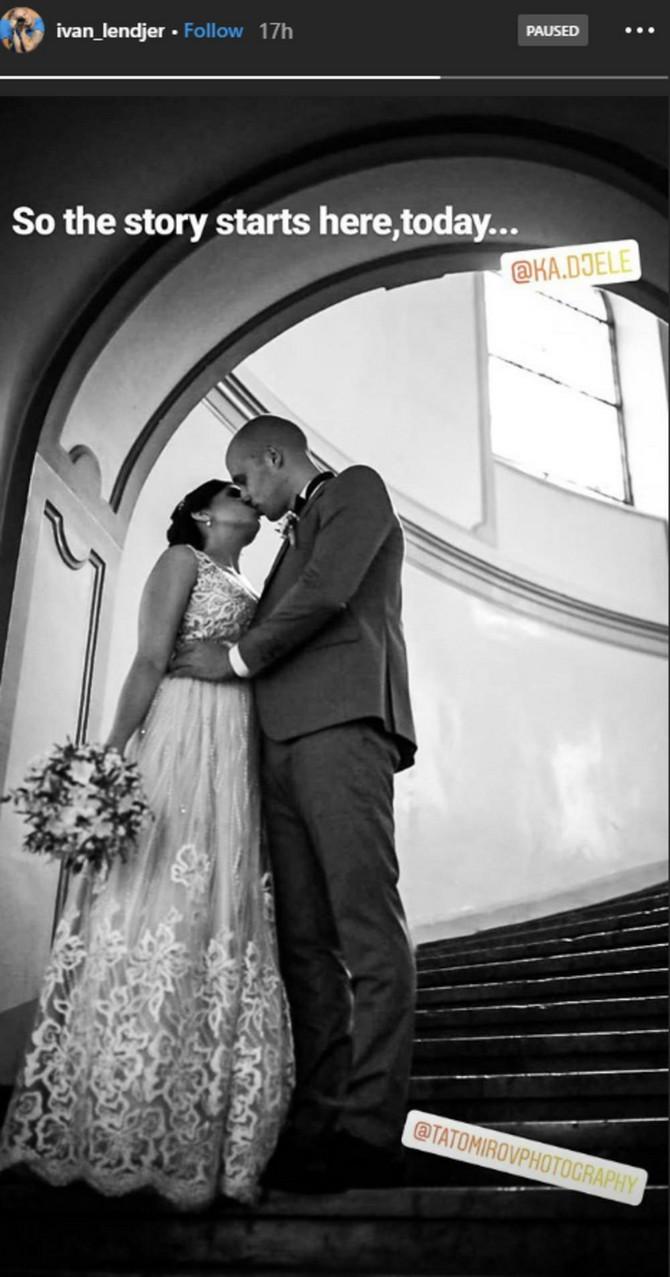 Ivan Lenđer i njegova draga na venčanju