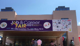 Ghanaian youth mass up at YEA job fair to seek job opportunities