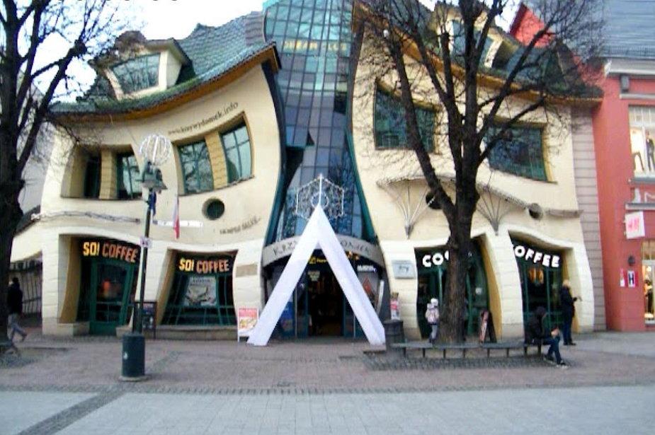 Krzywy Domek w Sopocie, siedziba Dream Clubu, luty 2016 r.