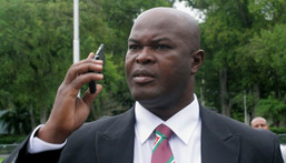 Ronnie Brunswijk - pictured here in 2010 - is Suriname's vice president and both captain and owner of the Inter Moengotapoe football team Creator: Louis ALFAISIE